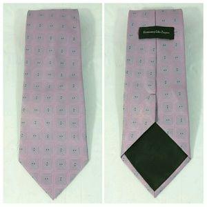 Ermenegildo Zegna Recent Silk Geometric Tie